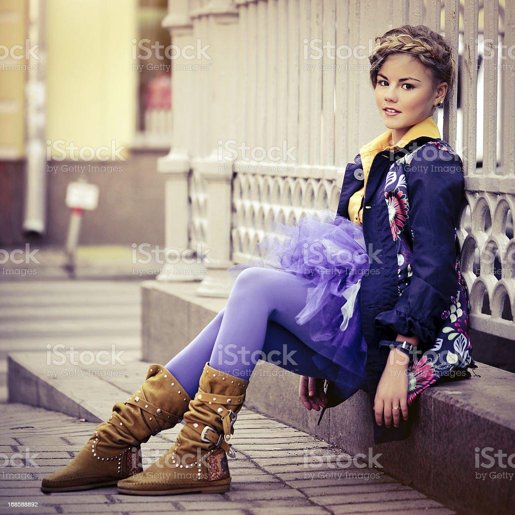 Teen fashion royalty-free stock photo