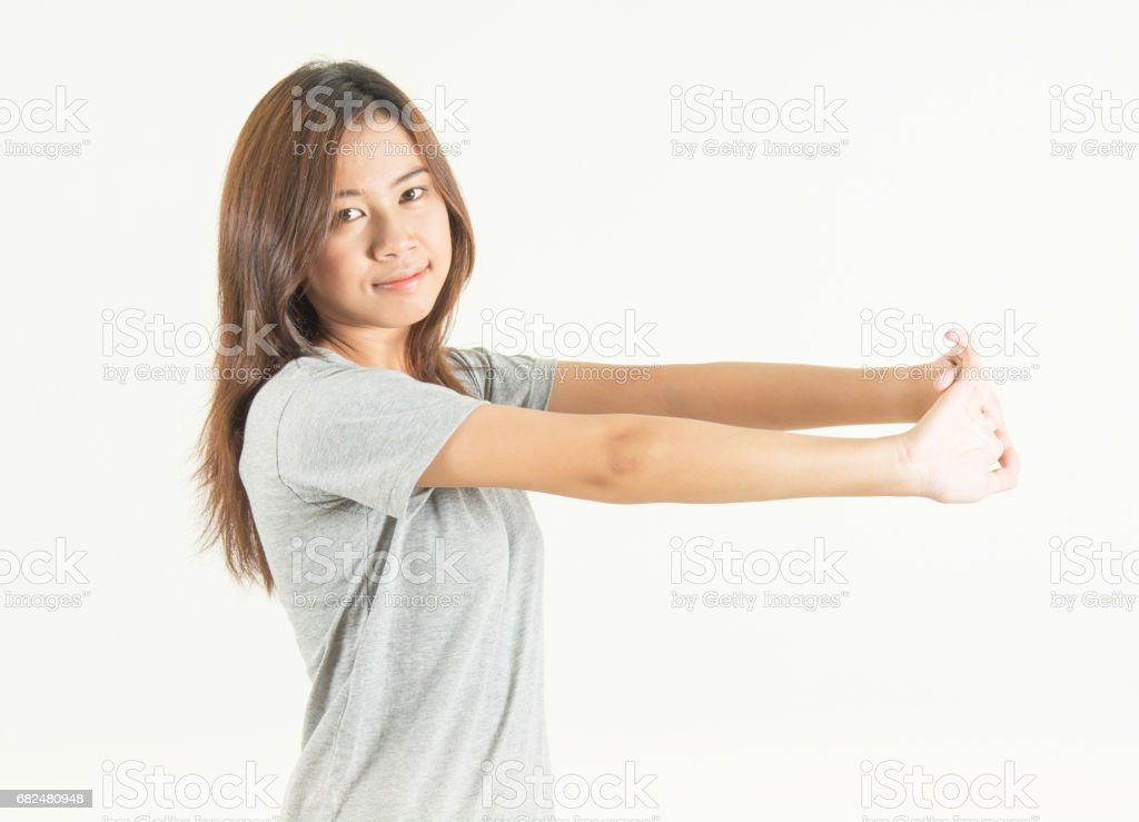 teen fitness a relax royalty-free stock photo
