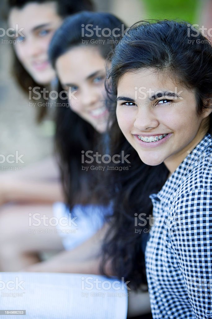Teen Friends Outdoors royalty-free stock photo
