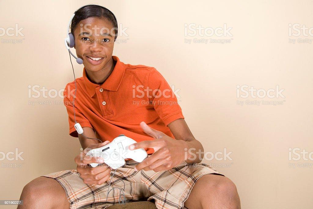 Teen Gamer stock photo