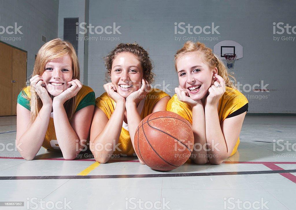 Teen Girl Basketball Teammates stock photo