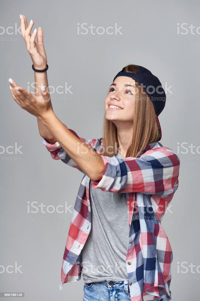 Teen fille attraper - Photo
