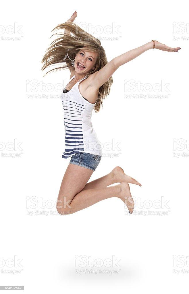 Teen Mädchen springen für Freude – Foto