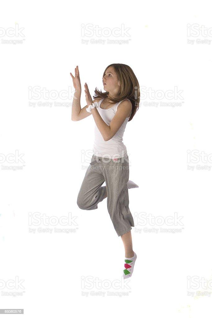 teen girl jumping royalty free stockfoto