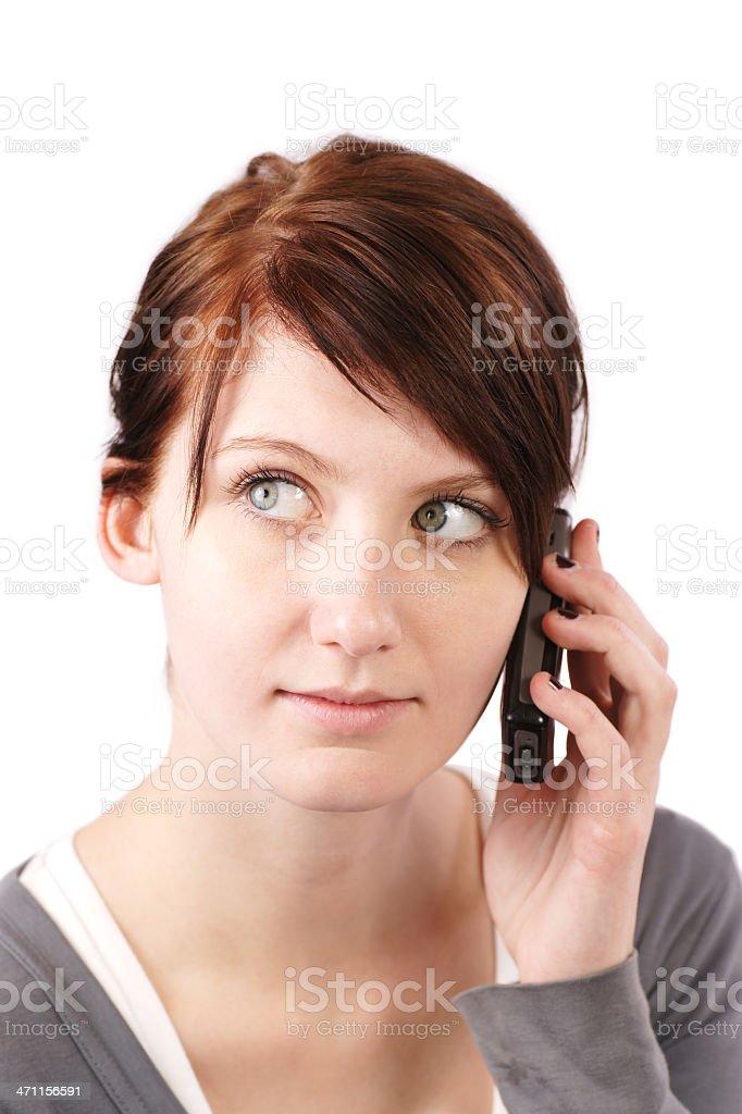 Teen Mädchen auf Handy Lizenzfreies stock-foto