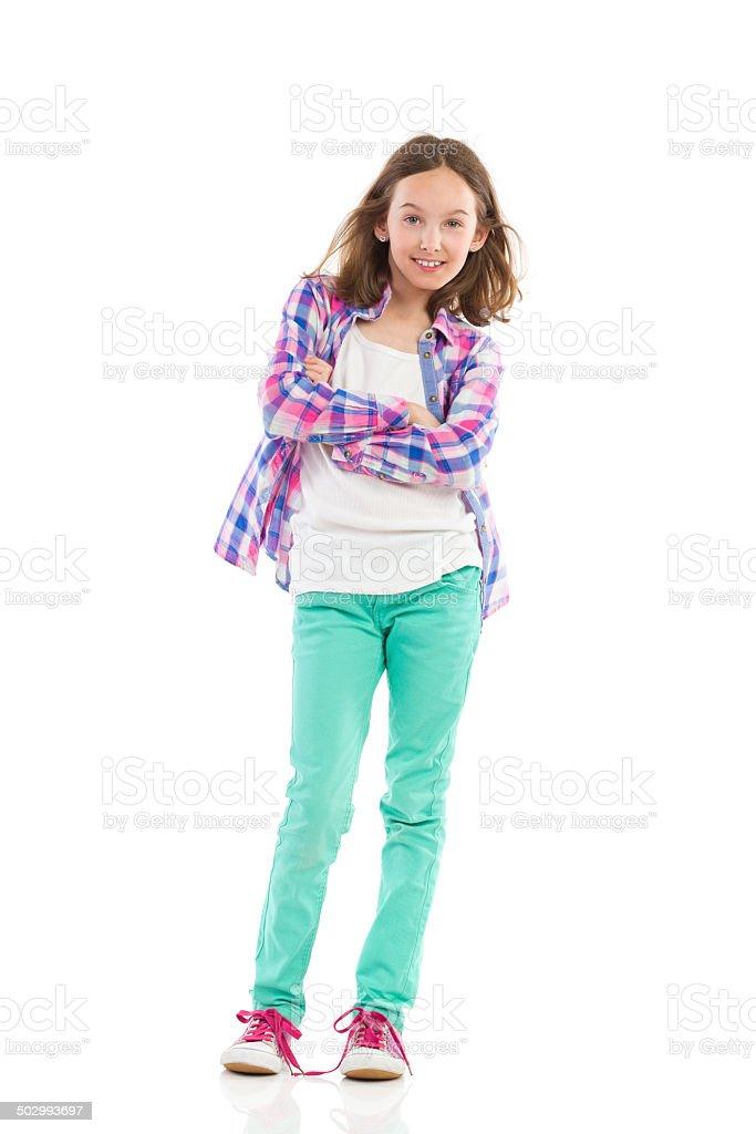 Teen girl posing stock photo