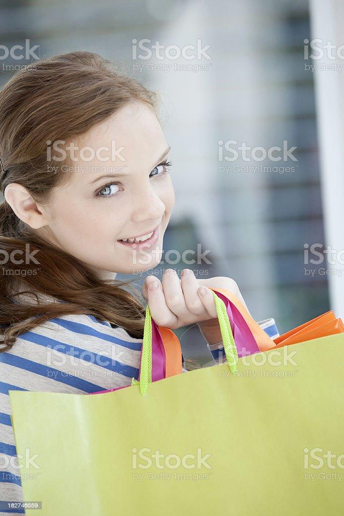 Teen Girl Shopping royalty-free stock photo