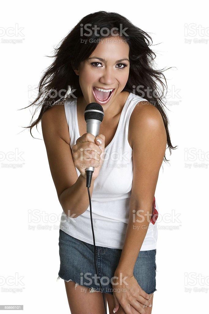 Teen Girl Singing royalty-free stock photo