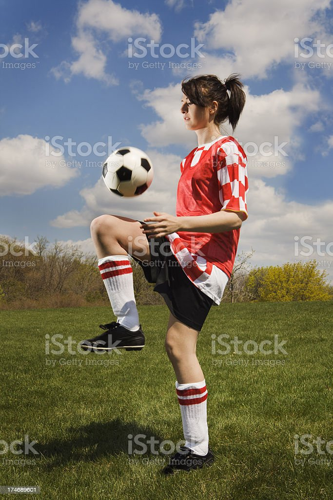 Teen Girl Soccer Player royalty-free stock photo