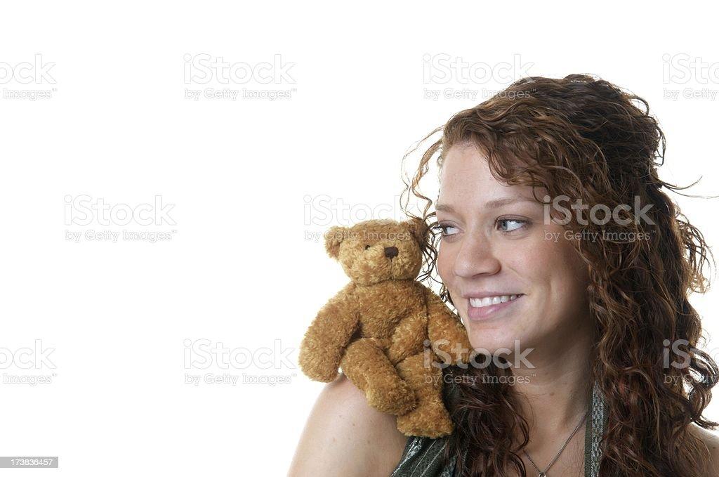 Teen Girl with a Teddy Bear royalty-free stock photo