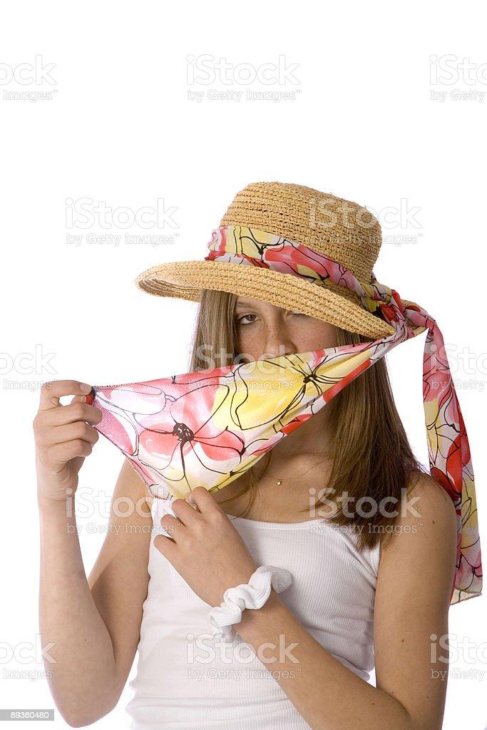 teen ragazza con cappello e sciarpa foto stock royalty-free