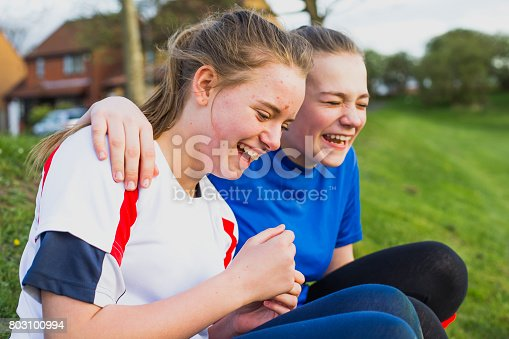 istock Teen Girls Having Fun at Training 803100994