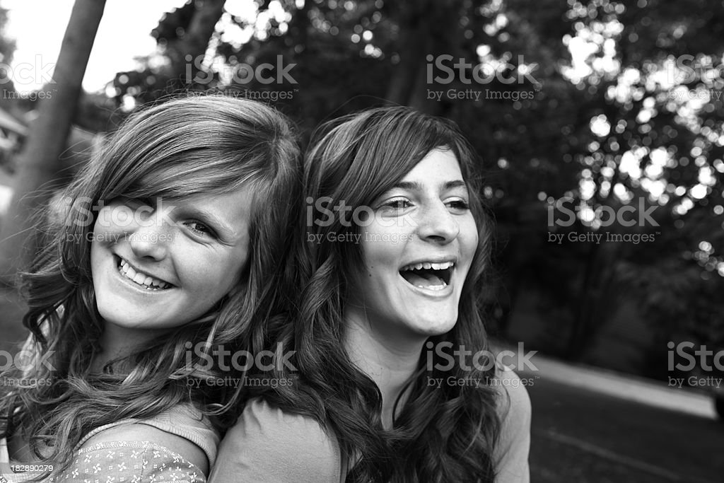 Teen Girls Laughing royalty-free stock photo