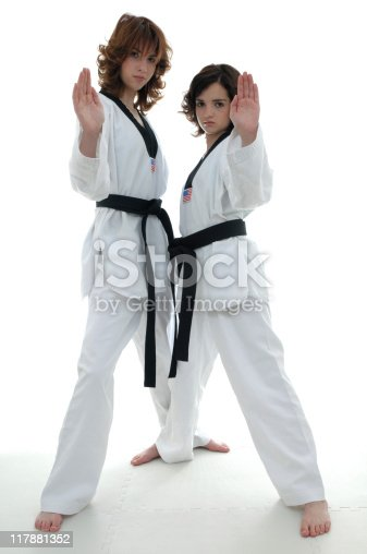 Teen Girls Stock Photo  More Pictures Of Black Belt  Istock-3818