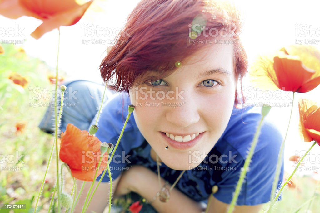 Teen girls portrait royalty-free stock photo