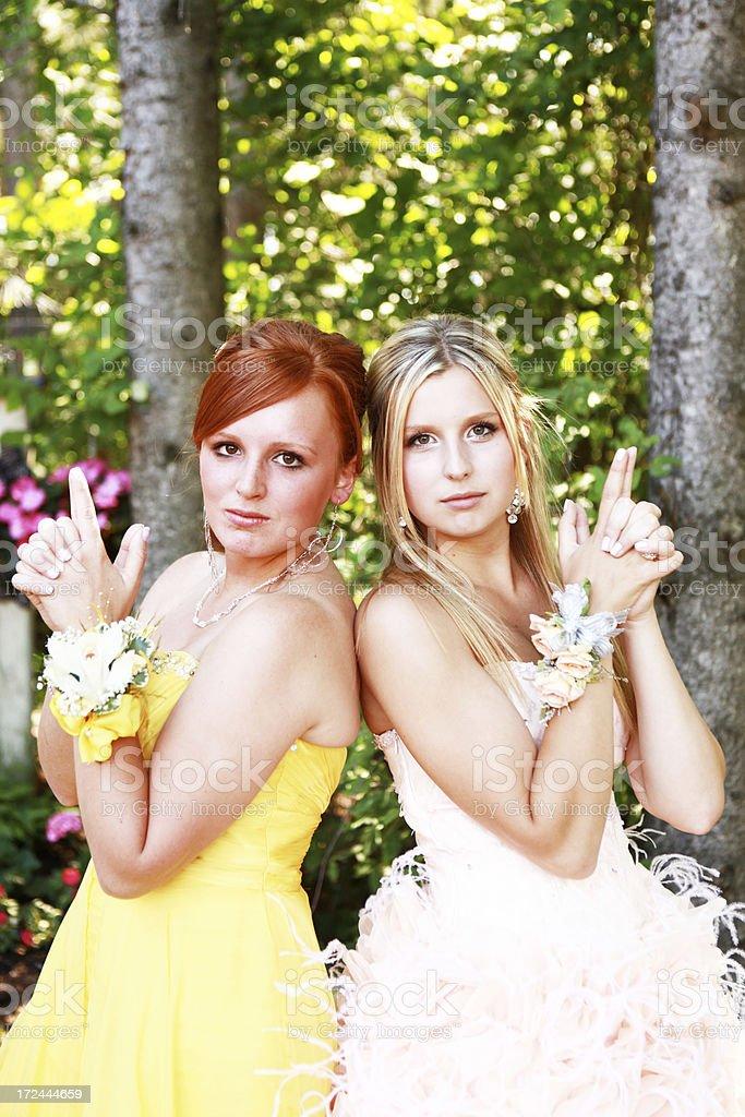 Teen Girls Striking a Pose royalty-free stock photo