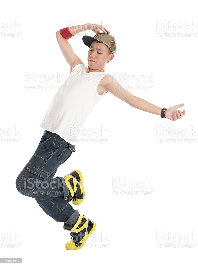 Teen hip hop dancer royalty-free stock photo