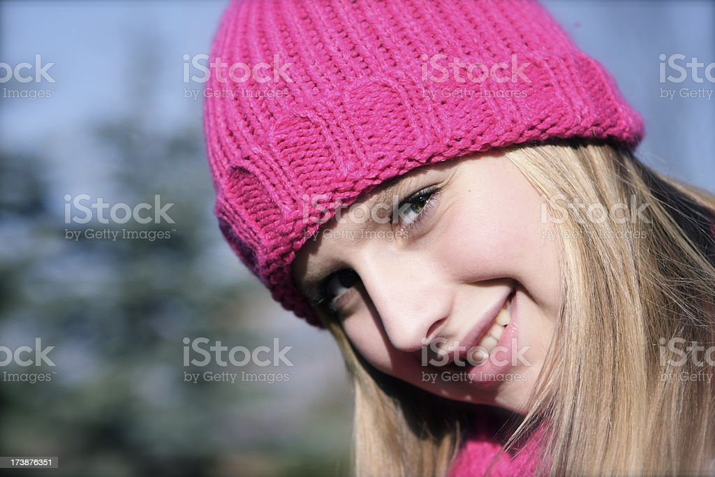 Teen in Winter Wonderland royalty-free stock photo