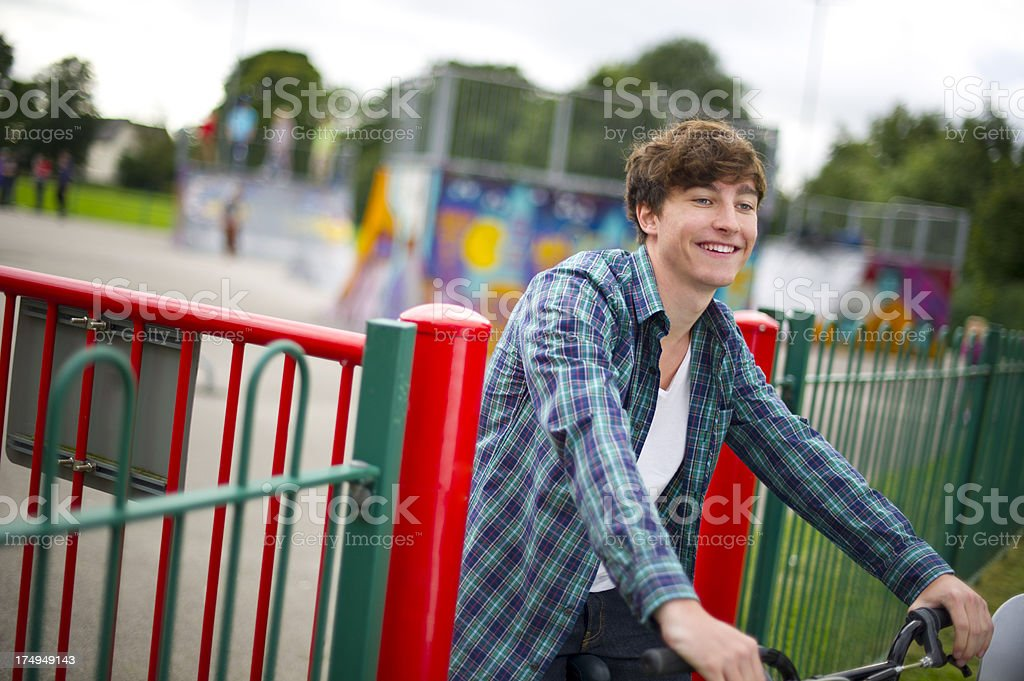 teen male at the skatepark royalty-free stock photo