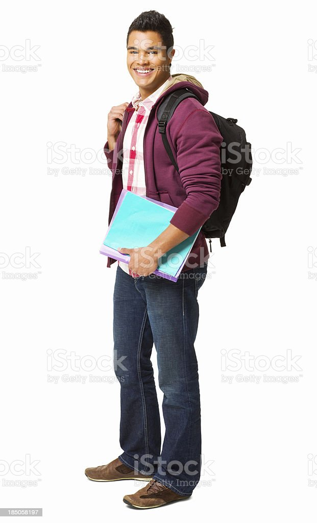 Teen Male Student - Isolated royalty-free stock photo