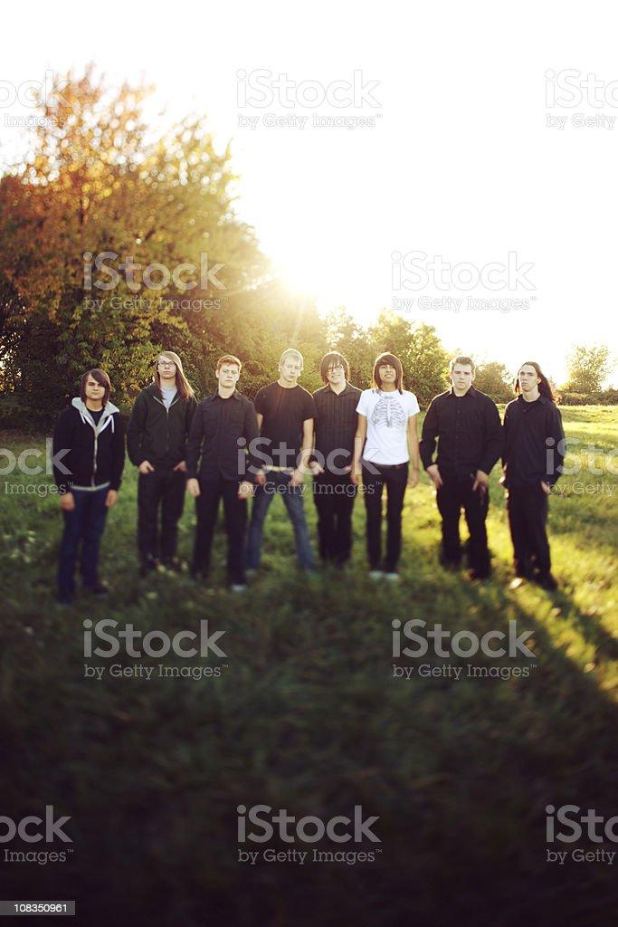 Teen Men Group royalty-free stock photo