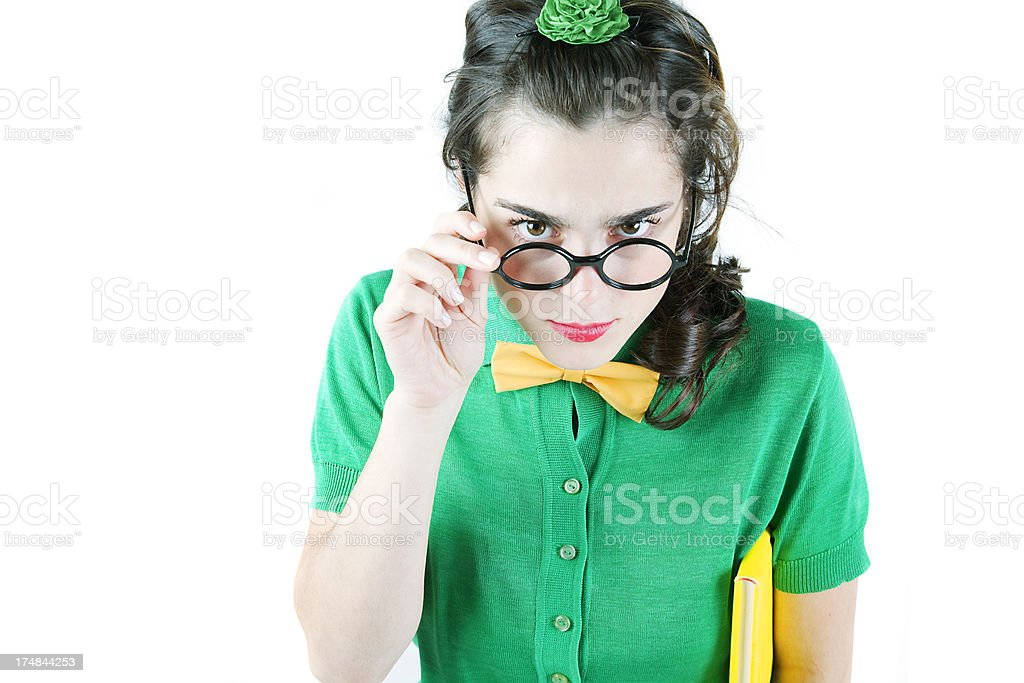 Teen Nerd royalty-free stock photo