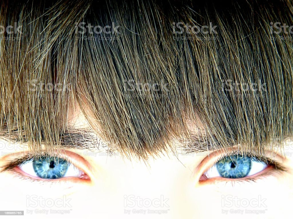 teen portrait - blue eyes royalty-free stock photo