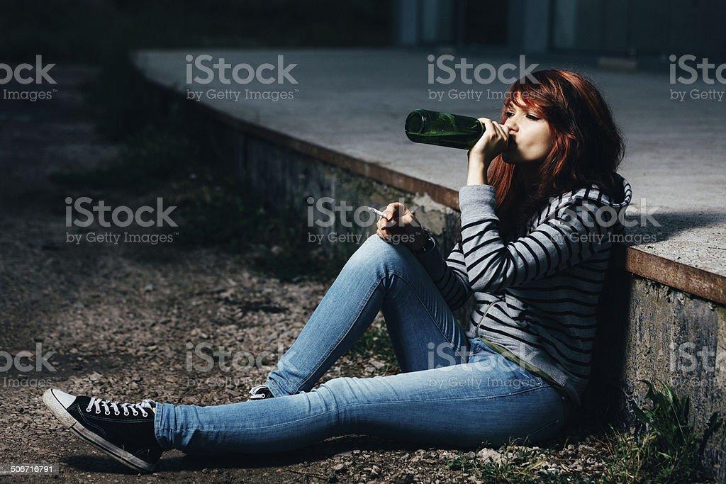 Teen problems stock photo