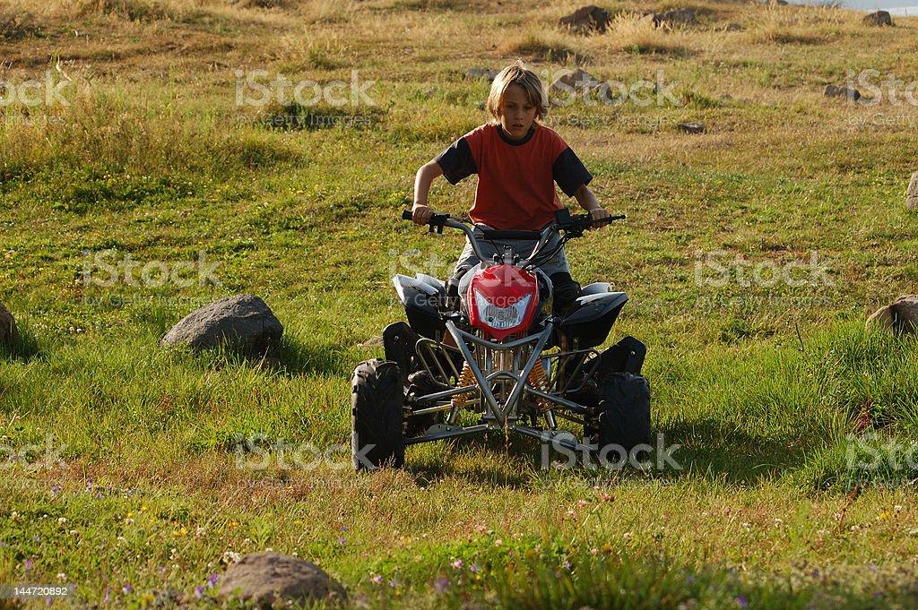 teen racer stock photo