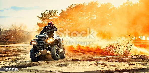Cross-country quad bike race, extreme sports