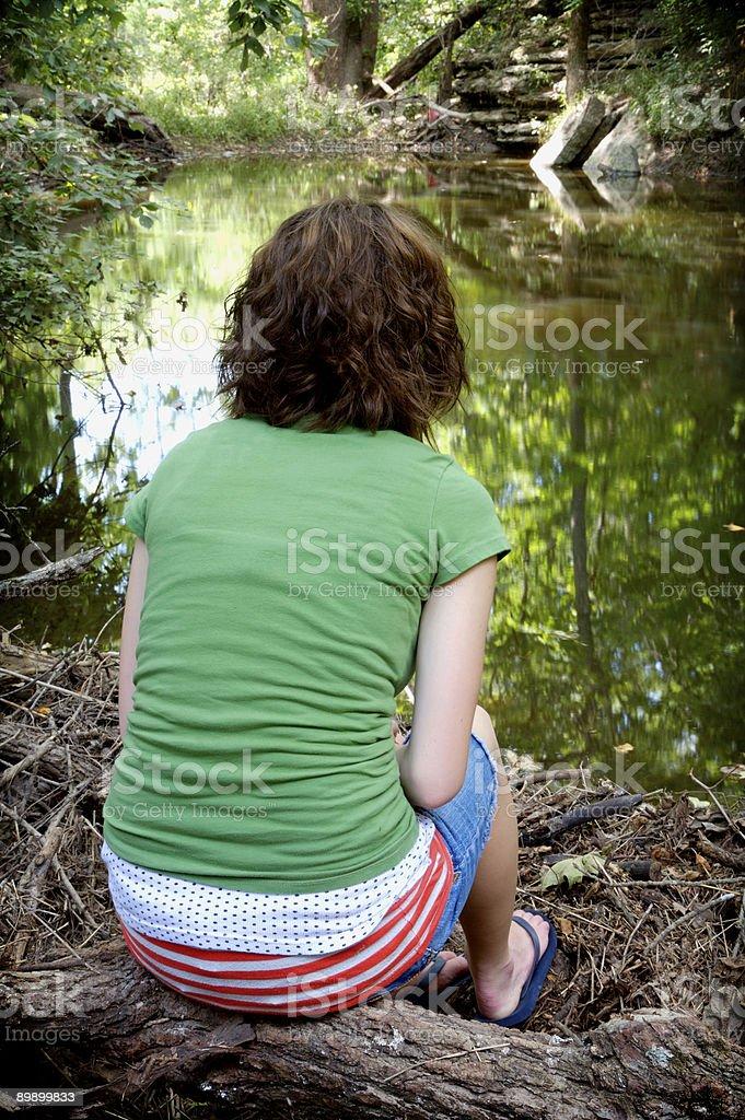 teen river unteren Porträts Lizenzfreies stock-foto