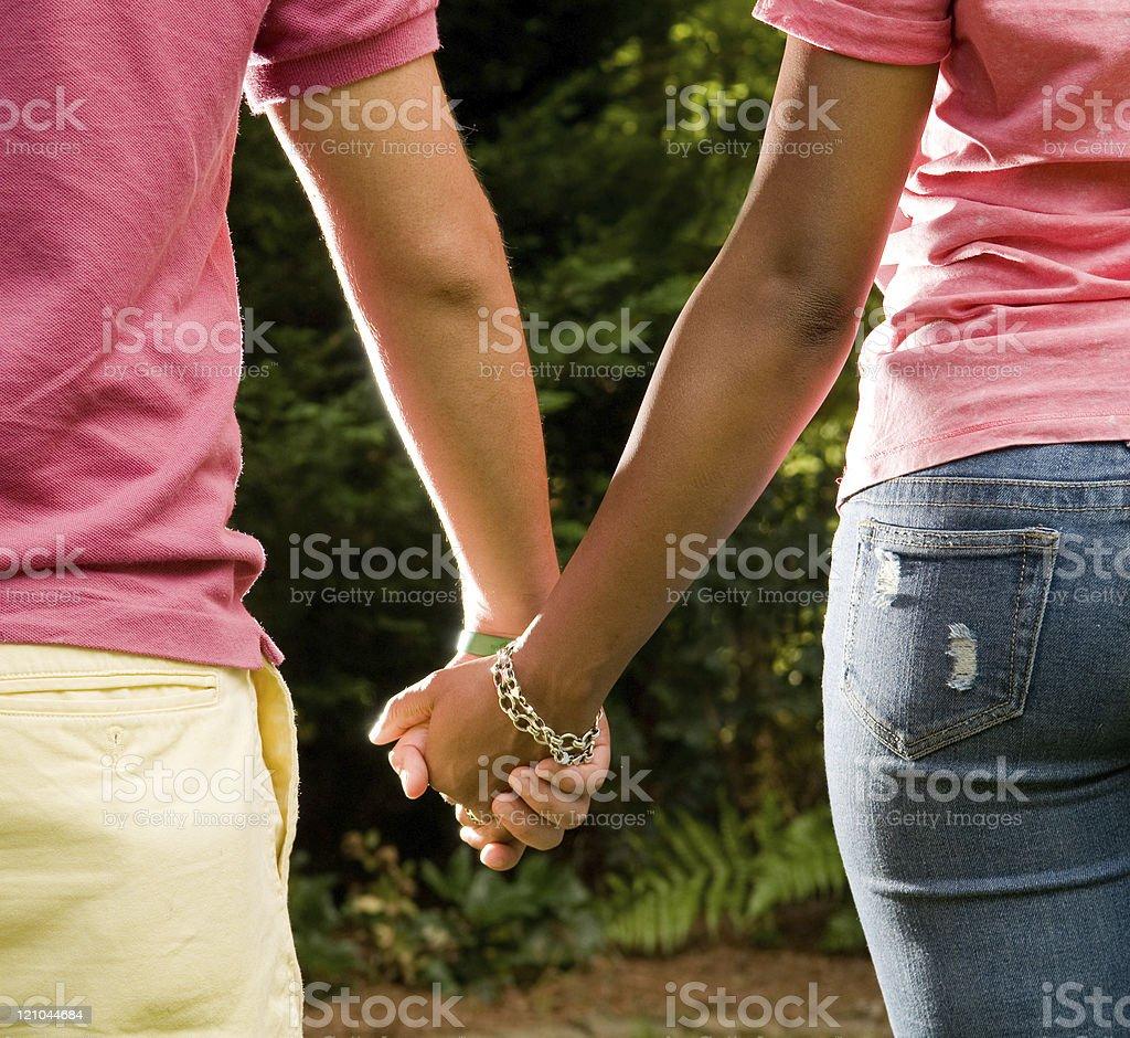 teen romance stock photo