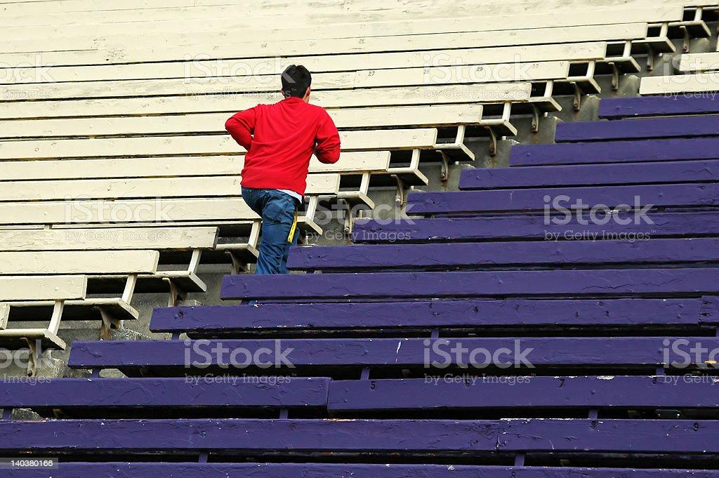 Teen Running stock photo