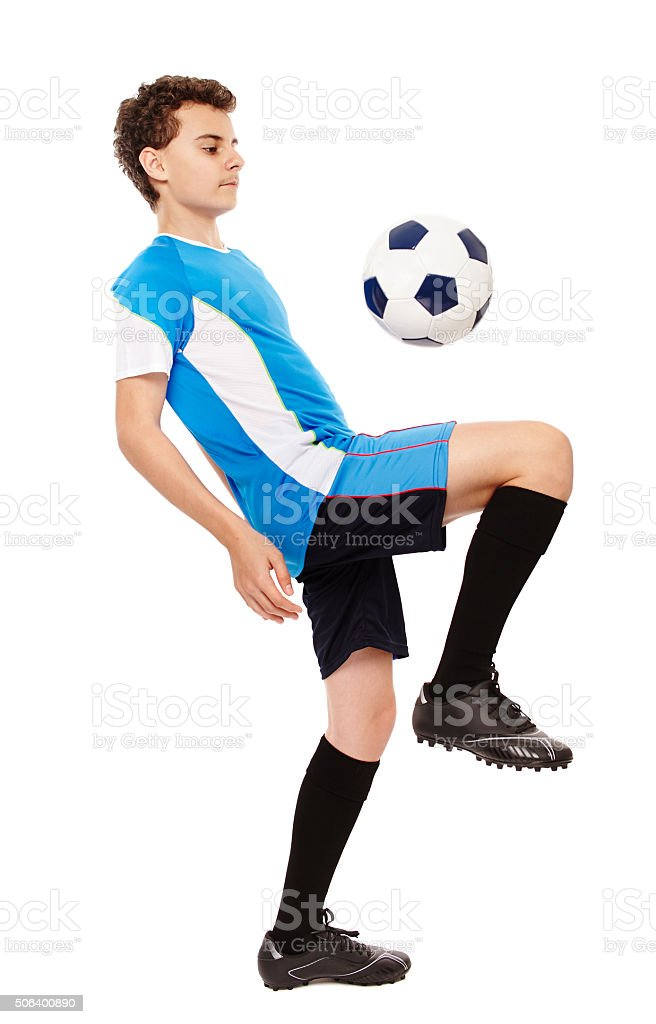 Teen soccer player stock photo