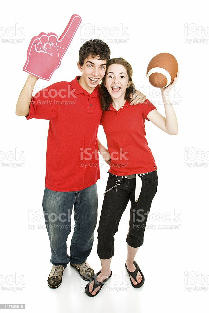 Teen Sports Fans stock photo