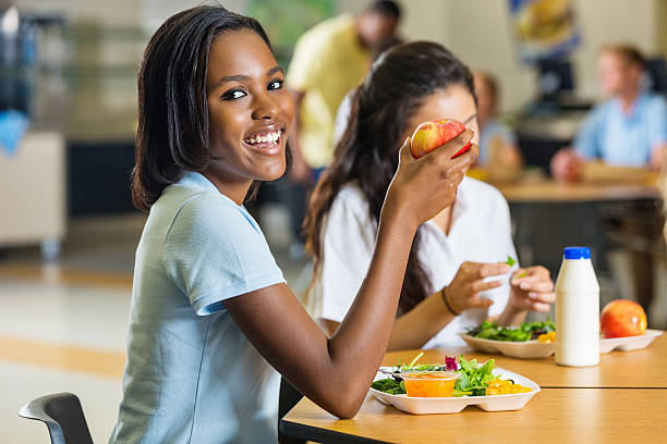 Teen student eating healthy lunch in school cafeteria picture id502037385?b=1&k=6&m=502037385&s=612x612&w=0&h=tynmf6dor2sxx1swowplseo8urrb3h my9agvxm d3k=