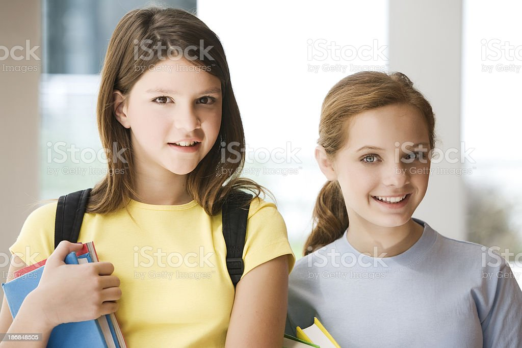 Teen Student Girls royalty-free stock photo