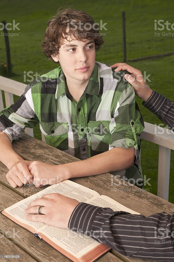 Teen talking to Counseler stock photo