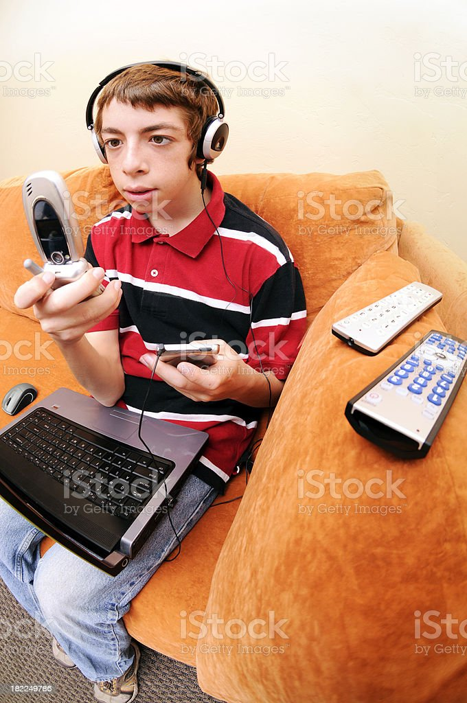 Teen Technophile royalty-free stock photo