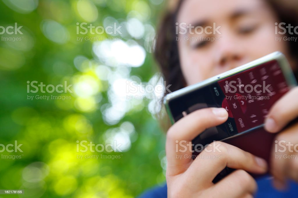 Teen Text Messaging royalty-free stock photo