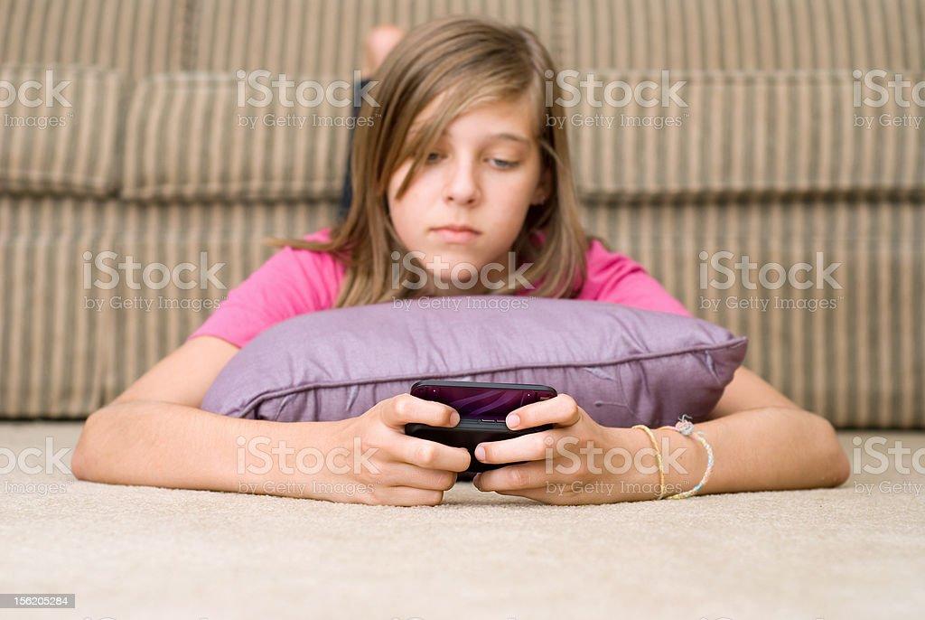 Teen Texting royalty-free stock photo