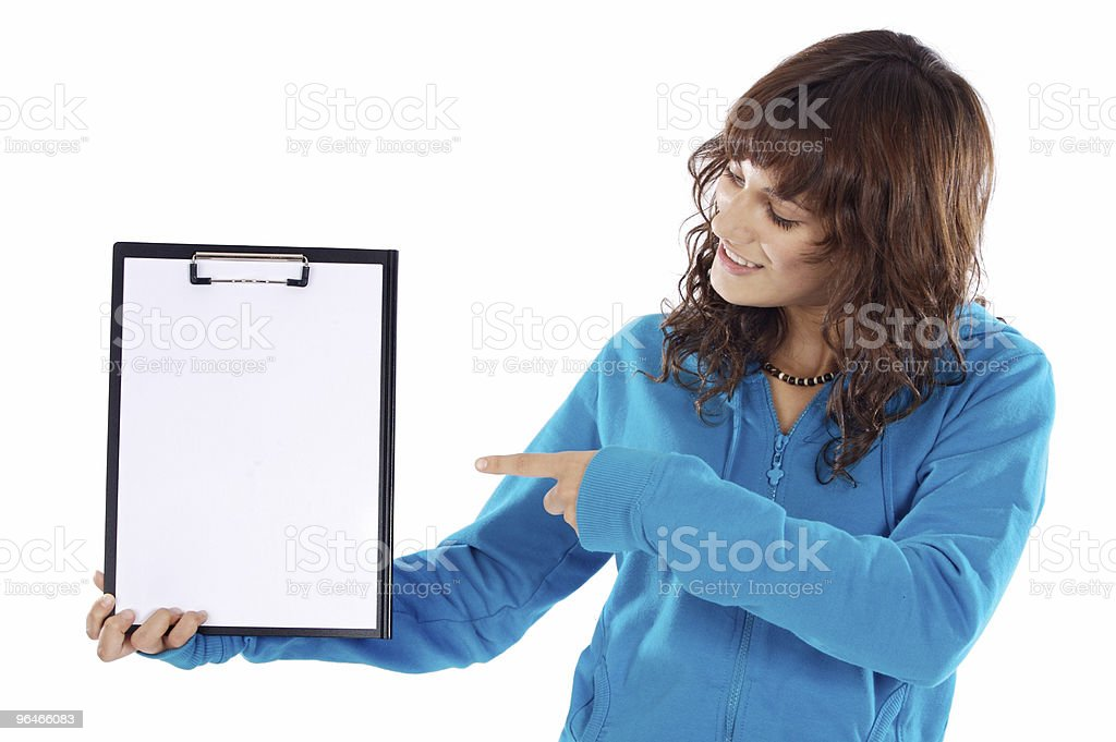 teen whit clipboard royalty-free stock photo