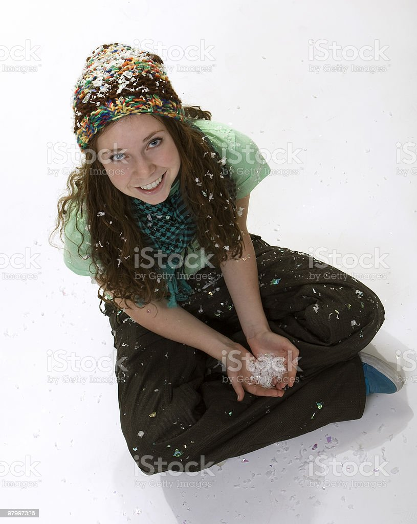 Teen Winter Style royalty-free stock photo