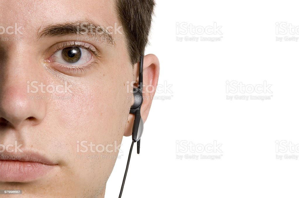 Teen Wired royalty-free stock photo