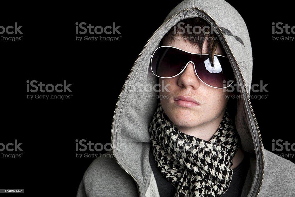 Teen with an attitude stock photo