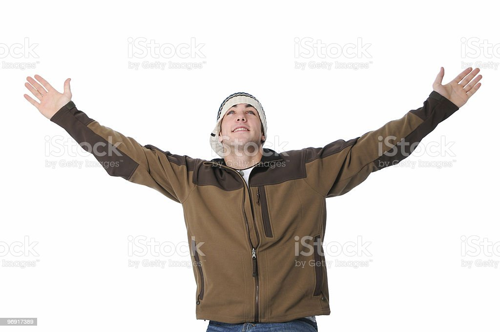 Teen with arms wide open royalty-free stock photo