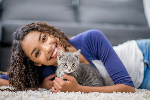 Teen With Cat