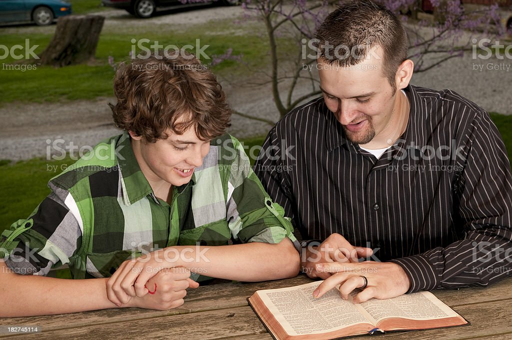 Teen with Counselor Talking stock photo