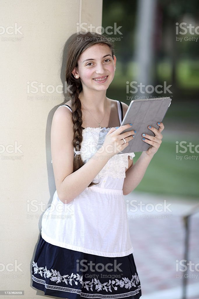 Teen with Digital Tablet royalty-free stock photo