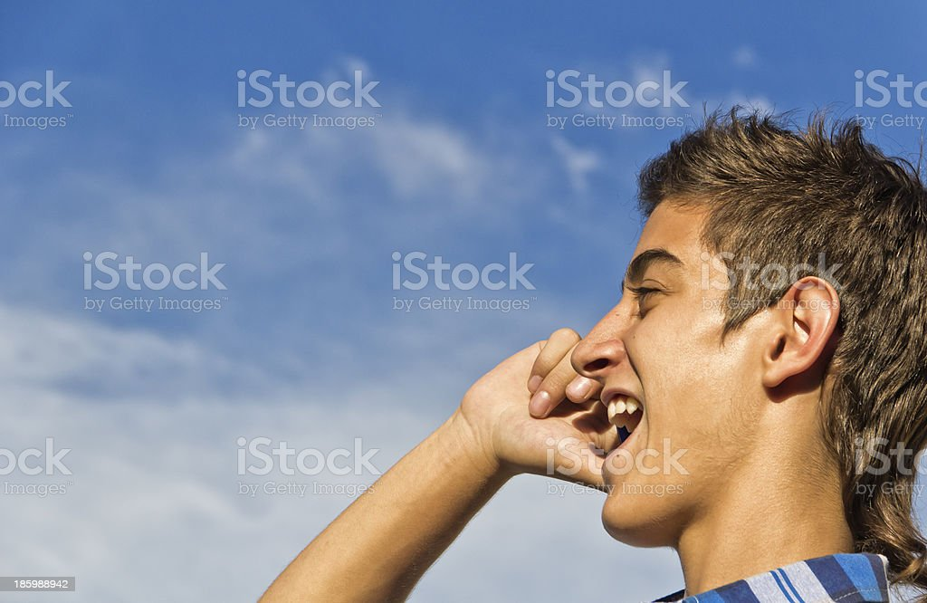 Teen with smartphone royalty-free stock photo